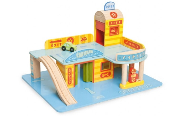 Plan Toys City Series Wooden Parking Garage – Plan Toys Car Garage