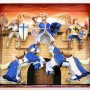 5 Piece Blue Knight Set with 2 Horses