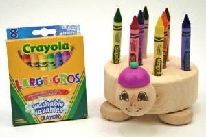 Toy Factory Wooden Crayon Holders