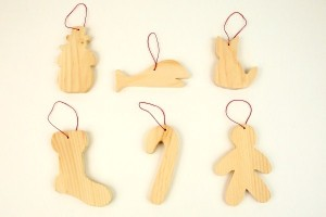 Toy Factory Wooden Christmas Ornaments