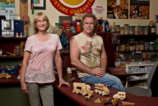 The Toy Factory owners: Dan and Kathy Viau