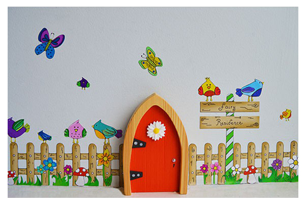 Picket fence wall art the toy factory for Fairy door wall art
