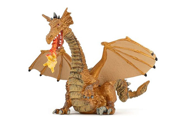 Gold Winged Dragon with Flame by Papo Toys