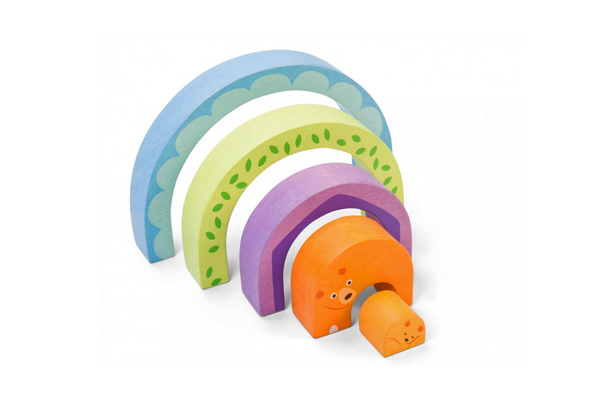 MOMMA BEAR TUNNEL PUZZLE BLOCKS BY PETITLOU - LE TOY VAN