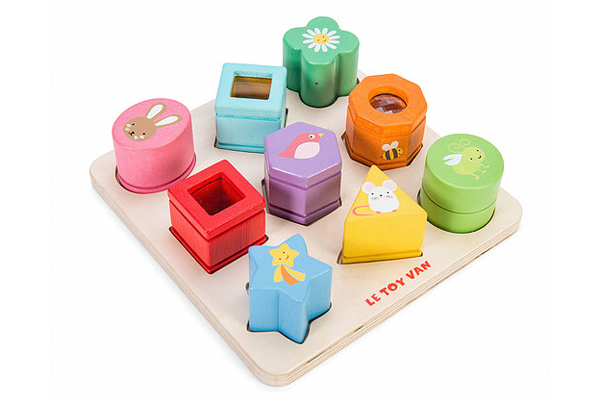 SENSORY SHAPES BLOCKS BY PETITLOU - LE TOY VAN PL089