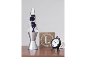 "14.5"" Lava Lamp - Black & Clear"