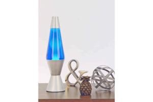 "14.5""Lava Lamp - White & Blue"