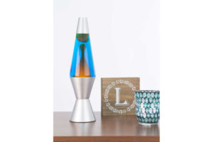 "14.5"" Lava Lamp - Gold & Blue"