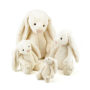 Bashful Cream Bunnies - Really Big, Huge, Large, Medium