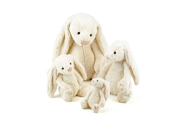 Bashful Cream Bunnies - Really Big, Huge, Large, Medium