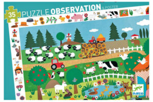 FARM OBSERVATION PUZZLE by DJECO Toys