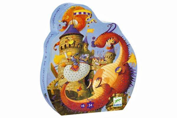Drtagon Silhouette Puzzle by DJECO Toys - Box