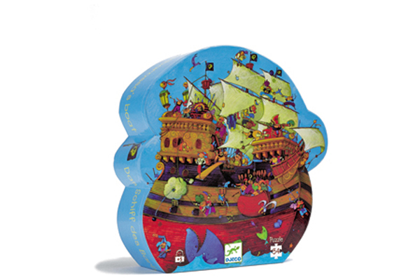 Pirates Silhouette Puzzle by DJECO Toys - BOX