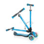 GLOBBER ELITE SCOOTER with Fold-Down Handlebars and Light-Up Wheels - BLUE