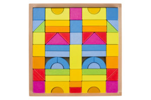 GOKI Rainbow Building Blocks Set