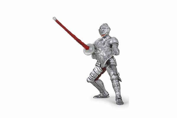Knight in Armor with Movable Visor