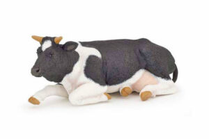 Lying Black & White Cow