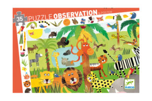 Jungle 35 Piece Observation Puzzle by DJECO Toys