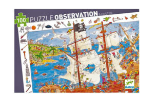 Pirates 100 Piece Observation Puzzle by DJECO Toys