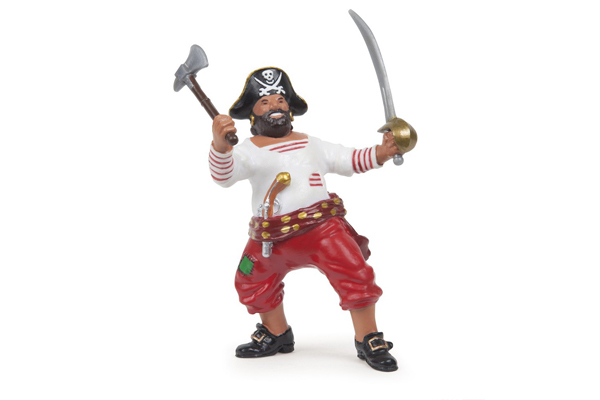 Pirate with Axe - Red