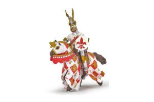 Red Fleur-de-Lis Knight and War Horse