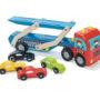 Race Car Transporter Set -  Cars UnLoaded
