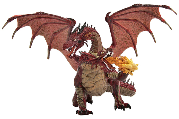 RED TWO-HEADED DRAGON