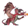 RED TWO-HEADED DRAGON 8935
