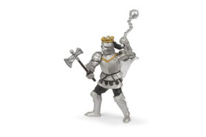 KING WITH BATTLE AXE AND MACE IN ARMOUR